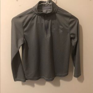 Boy's Under Armour Gray Zip Up Pull Over Size S